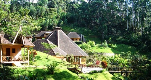 Stay at the beautiful Vakona Lodge on your Madagascar Tour
