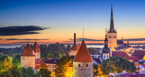 Tallinn, the best preserved medieval city in Northern Europe boasting Gothic spires and winding cobblestone streets