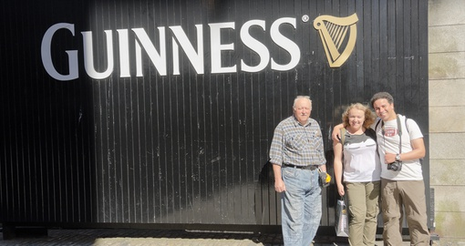 Stop in and have a pint at the Guiness Factory on your Ireland Tour