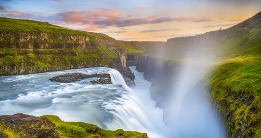 Visit Gullfoss waterfall on your Iceland Tour