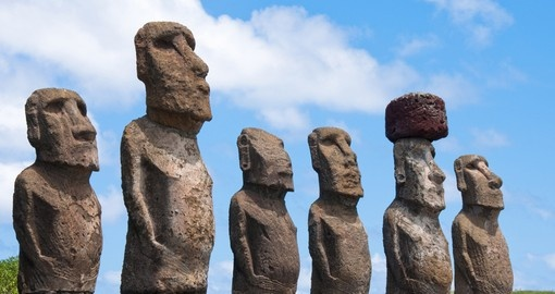 Hike to the Moai's on unspoiled Easter Island on your trip to Chile