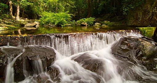 Tropical rainforest waterfall in far north Queensland
