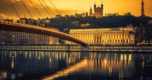 Saone River at sunset
