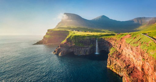 Composed of 18 massive volcanic basalt rocks, the Faroe Islands lye halfway between Norway and Iceland