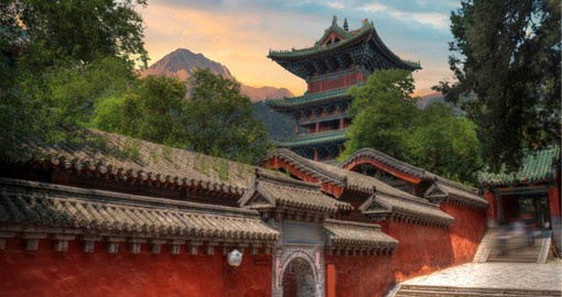 Dating from the 5th century, Shaolin Buddhist Monastery is a World Heritage Site