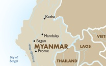 Myanmar Country Map