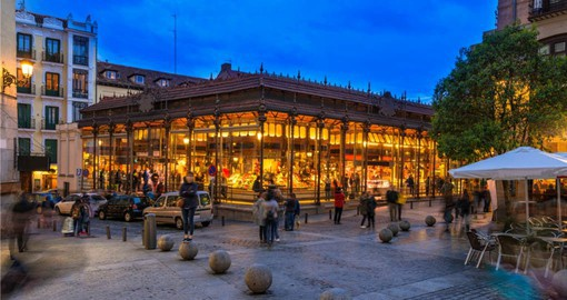 Mercado San Miguel in Madrid, rated as one of the top markets in the world