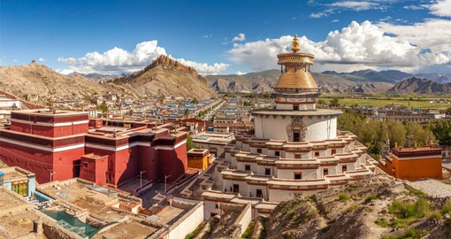 Gyantse lies on the historic  trade route between India and Tibet and maintains it's small-town charm