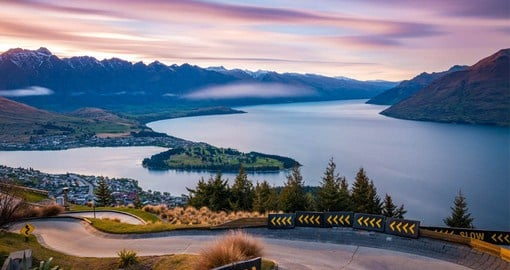 On the shores of Lake Wakatipu with the dramatic Southern Alps as a back drop , Queenstown is New Zealand's  Adventure capital