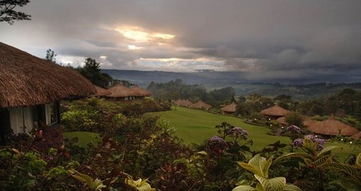 Stay in the Ambua Lodge atop a hillside during your Trips to Papua New Guinea.