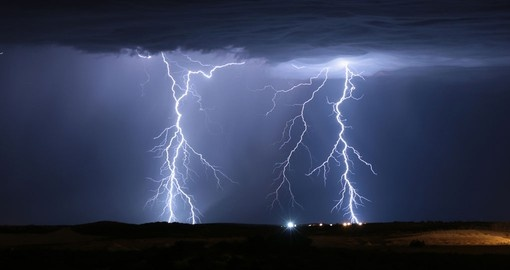 Lightning storm In Yanchep, Perth Western