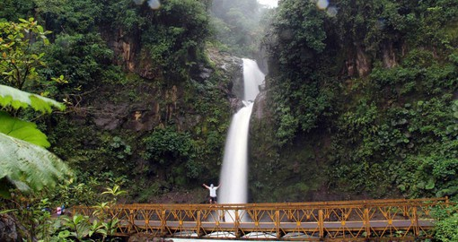 Your Costa Rica tour stops at the picturesque La Paz Waterfall