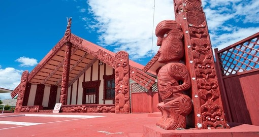 Maori Marae meeting house and meeting ground, Rotorua