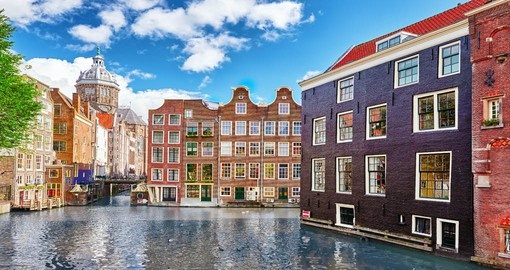 Enjoy the beautiful views of the streets of Amsterdam during your Netherlands trip.