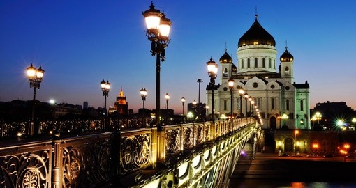The Cathedral of Christ the Savior at night