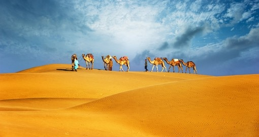 Visit the desert during your Dubai vacation.