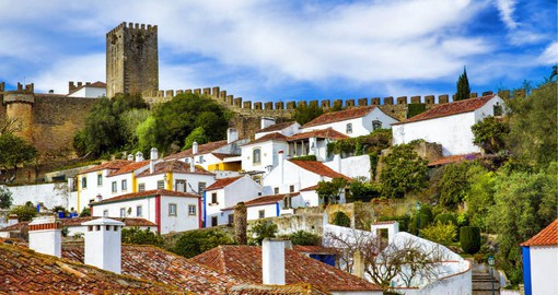 The medieval town of Obidos is one of the most picturesque and well preserved in Portugal