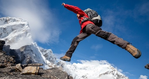 Take the adventurous approach and leap across flat stretches of land on Mount Everest while on your Nepal Vacations