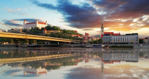 The rich history of Bratislava can be seen in the medieval and Gothic old town