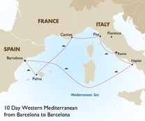 10 Day Western Mediterranean from Barcelona to Barcelona
