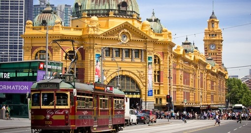 Flinders Street Station is used by thousands of people daily