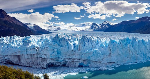 The Perito Moreno Glacier, part of the Southern Patagonian Ice Field is the world's third largest reserve of fresh water