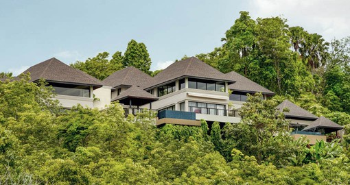 The Pavilions is located on the southern tip of Phuket overlooking the Andaman Sea
