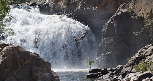 Take a leap off the Edith Falls into the water bellow during your Australia Vacations.