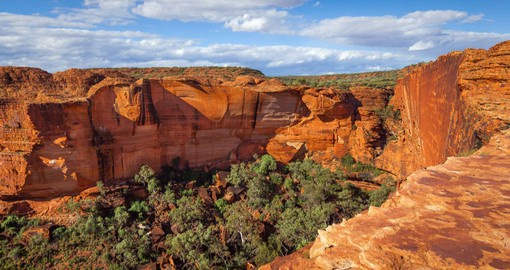 The soaring sandstone walls of Kings Canyon