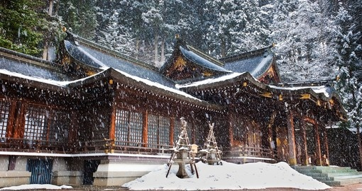 Sakurayama Hachimangu Shrine in Takayama is visited on your Japan tour package.