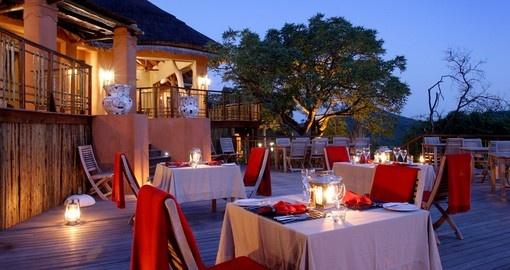 Thanda dining deck at main lodge