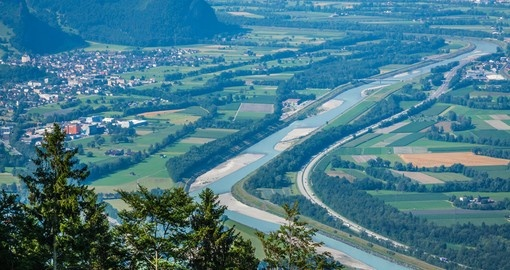 Beautiful panorama of Liechtenstein