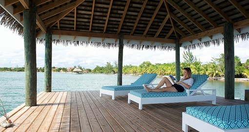 Enjoy Relaxing by the water at Naia Resort on your trip to Belize