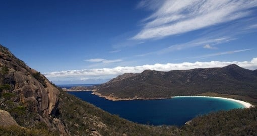 Experience Tasmania's Wineglass Bay as part of your trip to Australia