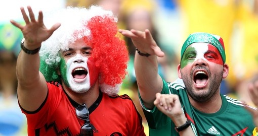 Mexican fans celebrating