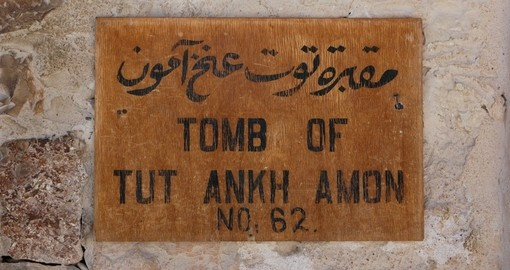 Tablet of the tomb of Tutankhamun