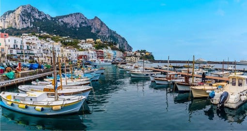 Rising majestically from the Bay of Naples, Capri is best know for the Grotta Azzurra