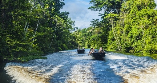 Experience the Amazon Skiff Ride on your next Peru tours.