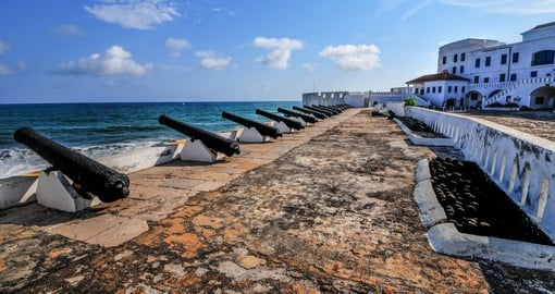 "The Cape Coast Castle is one of many ""slave castles"" built in West Africa by European traders"