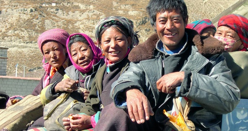 Visit friendly locals in  Gyantse on your trip to China