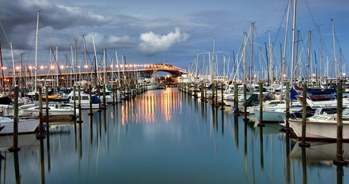 Explore Harbor the bridge From Westhaven Marina during your next trip to New Zealand.