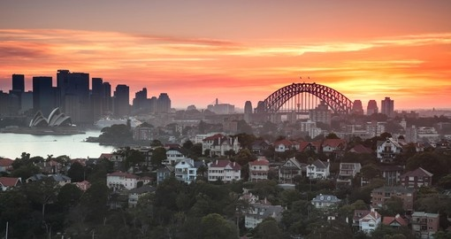 Sunset over Sydney Harbour
