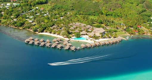 Experience aerial View of Moorea Pearl Resort during your next Tahiti vacations.
