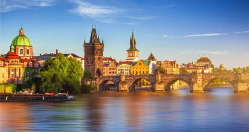 Enjoy a stroll along the Vltava River on your trip to Prague