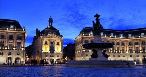 Visit the charming Place de la Bourse in Bordeaux on your France vacation