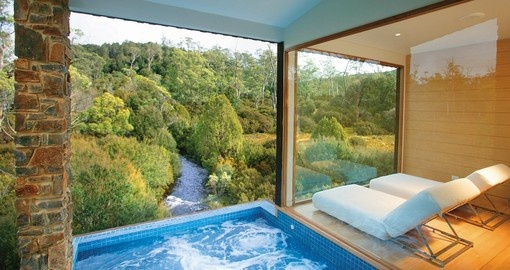 Indulge in the  Waldheim spa on your trip to Tasmania
