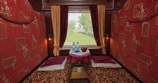 Enjoy Superior Cabin on your Tsars Gold Train