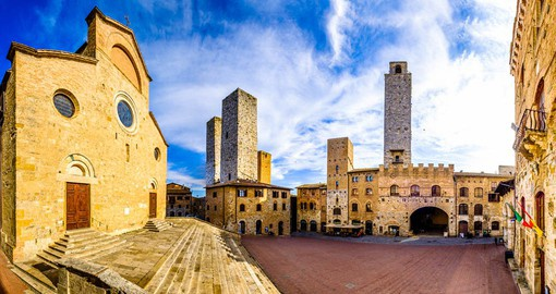 "San Gimignano , the ""City Of Beautiful Towers"" once had 72 tower-houses"
