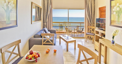 The spacious one-bedroom apartments are a comfortable base from which to explore the Costa del Sol