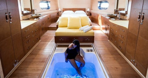 Luxurious accommodations aboard the Soneva In Aqua